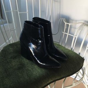 Steve Madden Patent Leather Ankle Booties